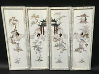 Oriental Chinese white lacquer frames wall plaques wall picture gifts