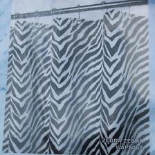 New Park Smith Watershed Fabric Shower Curtain Zebra Zebra -White/Black