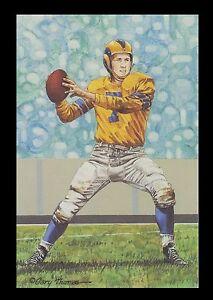 Bob Waterfield Goal Line Art Card Los Angeles Rams