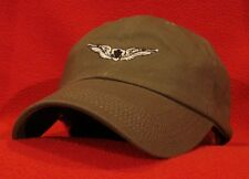 ARMY AIRCREW Basic Aircrew Wings Ball Cap, low-profile embroidered hat, OD green