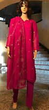PAKISTANI INDIAN FANCY WEDDING EID/ DIWALI SHALWAR KAMEEZ DRESS 3PC Medium