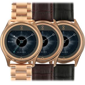 **NEW** Olio Model One Smartwatch 18K Rose Gold w/ Alligator Band H1B-SKU-14