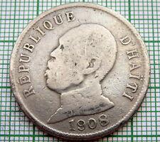 HAITI 1908 50 CENTIMES, General Pierre Nord-Alexis