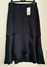 NEXT Navy Satin Wrap Ruffle Skirt 14/16/20  RRP £45