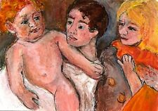 ACEO After The Bath Mary Cassatt Miniature Art Painting Masters Penny StewArt