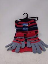 Polar Wear hat scarf glove set pink blue grey winter