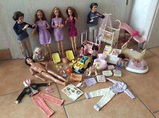 Barbie Happy Family schwangere Midge 2x, Puppy Midge, 3x Alan, 2x Ryan, Baby Chr
