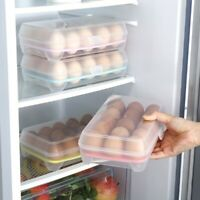 8/15 Eggs Clear Plastic Egg Storage Box Container Holder Case Food Storage Tools