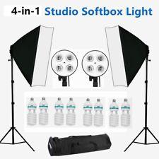 Photo Studio Softbox Lighting Video 4 Head Soft Box Continuous Light Stand Kit
