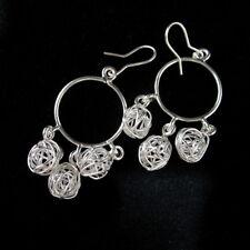 Fine Fashion Silver Earrings Dream catcher Chandelier Dangle Hipster Theme ER131