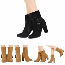 Block Patternless Faux Suede Boots for Women