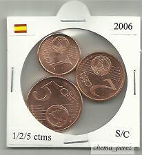 // 1 + 2 + 5 centimos euro España 2006 SC . euro cents spain \