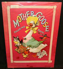 Mother Goose Coloring Bk Painted Art 3rd Cover #1586 Merrill 1949 Albert Staehle
