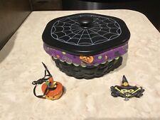 Longaberger 2009 Halloween Small Spider Web Basket Combo Xtra Knob & Tie On
