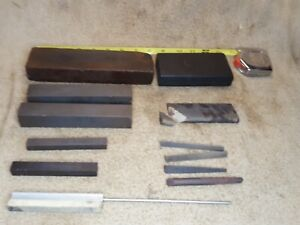 Vintage Mixed Lot 12 SHARPENING STONES Oilstones WHETSTONES Hones machinist tool