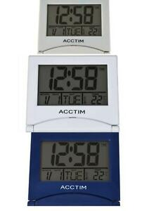 Acctim Mini Flip 2 Folding Travel LCD Alarm Clock 1578