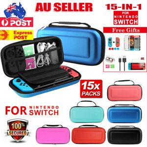 For Nintendo Switch/ Lite Carry Case EVA Bag+Cover+Screen Protectors+Accessories