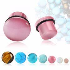 Fashion Stone Ear Plug Flesh Tunnel Ear Gauges Piercing Body Jewelry 4mm-16mm