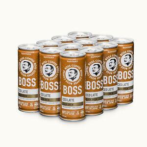 Suntory Boss Coffee Iced Latte 237ml × 12