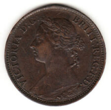 1891 Great Britain Queen Victoria 1 One Farthing.  High Grade.