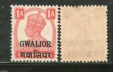 India Gwalior State KG VI 1 An Postage Stamp SG 121 / Sc 103 MNH