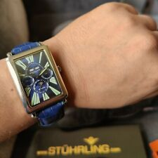 RARE! Bioshock vibe watch. Stuhrling Automatic Triple Day/Date Stylus included