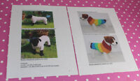 BARGAIN- 2 X PRINTED KNITTING PATTERN INSTRUCTIONS - 2 X CHUNKY DOG COATS ROMPER