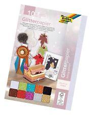 folia Glitterpapier, 170 g/qm, 240 x 340 mm, farbig sortiert bunt