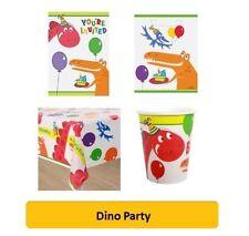 Dino Fiesta Fiesta GAMA (NIÑOS /Cumpleaños/Servilletas/Platos/ tazas) Unique