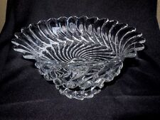 "Art Glass Pedestal Bowl Mid Century 10"" Round Footed"