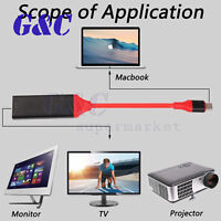 USB Type C to Female HDMI HDTV Cable Adapter for Samsung Galaxy S8 S8+ Macbook