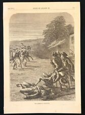 Antique 1873 Book Print/Plate THE SKIRMISH AT LEXINGTON (1775)