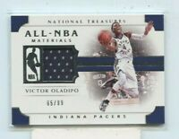 VICTOR OLADIPO 2018-19 PANINI NATIONAL TREASURES ALL-NBA GAME-USED JERSEY #D /99