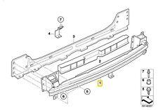BMW MINI R50 R52 R53 JCW Rear Bumper Carrier Support Bar 51127057403