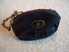 "Fossill Mini Crossbody Handbag Black Leather with Chain""looks perfect"""