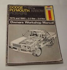 Dodge D50 Plymouth Arrow Pick Ups Shop Repair Manual Haynes 1979-1980 Mini Truck