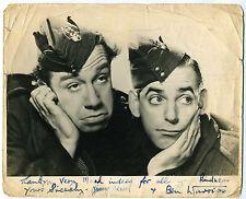 JIMMY JEWEL & BEN WARRISS   Film, Theatre & t.v.  Hand-signed