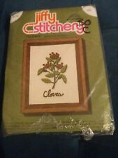 "VINTAGE Jiffy Stitchery Cross Stitch Kit #323 ""Cloves"""
