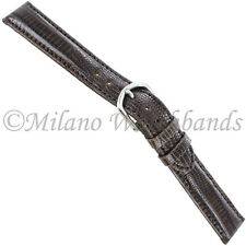 d0ffc7626 16mm deBeer Brown Hand Made Genuine Teju Lizard Stitched Mens Watch Band