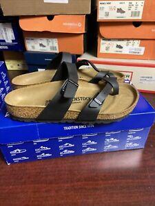 birkenstock Womens Mayari Black Thong Sandals Size 38 M , 386