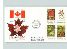 Canada; The Maple Leaf, Canada's National Emblem, 1971, 4 stamps on First Day of