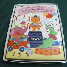 My Daughter's Birthday Memories Book Album Hallmark Flea Circus Elephant Cat Nib