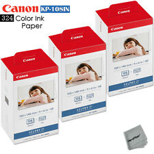 324 Color Ink Paper - 3 Pack Canon Kp-108In sheets for Canon Selphy Cp770