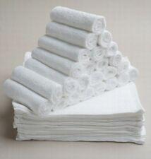 Bulk Save 50 x Budget Face Washer Wipe Quality Plain towels 100% Cotton 28x28cm