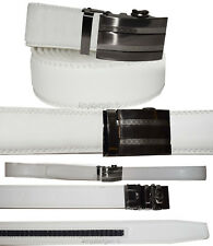 Real Leather Men's Belt. Automatic lock. Dress & Casual belt.Fashion belt up 50""