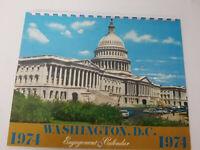 1974 Washington DC Calendar Color Photos Personal notes Nixon Resigns 8 x 10 VTG