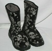 I Heart Ugg Skull Sequin Womens Black Gray Boots Sz6
