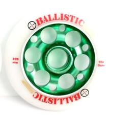 Ballistic Scooter Wheel - Alloy Metal Core - 100mm - 88A - Anodised Green
