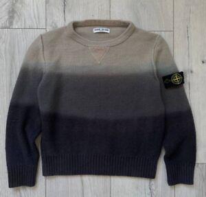 "Boys AGE 8"" Stone Island Genuine Rare Design Wool Jumper.Junior.Kids.Mens"