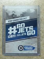 14-15 UD Serie 1 RARE Promo Set JETS Winnipeg Header Card Publicity